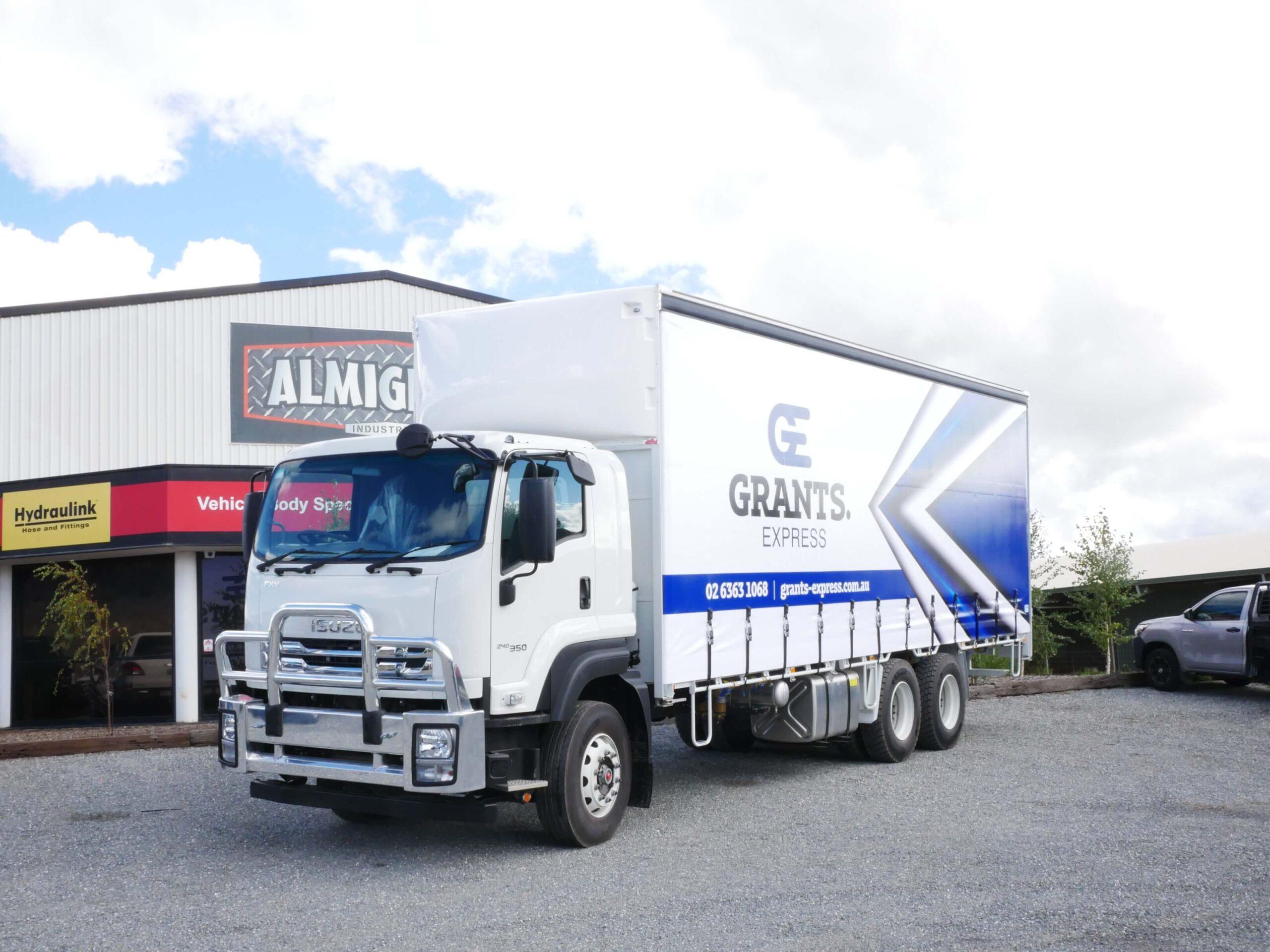 Grants Express Curtainside Truck Body
